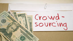 Crowdsourcing income concept Footage