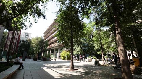 Loitering on University courtyard Footage
