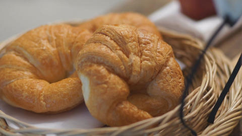 French crispy croissants Footage