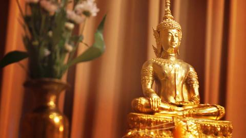 The Buddha Statue decoration Thai Wedding Footage