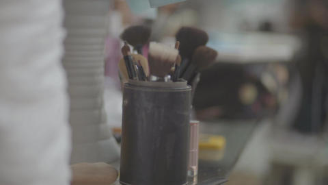 Makeup Brush Set Footage