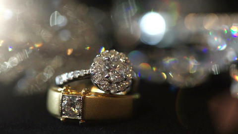 Macro shot of Wedding rings Footage