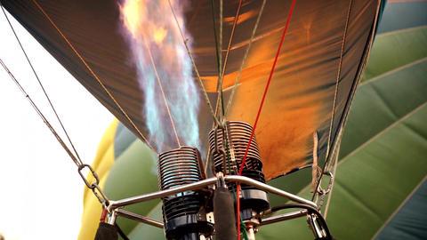 Hot Air Balloon Burner Footage