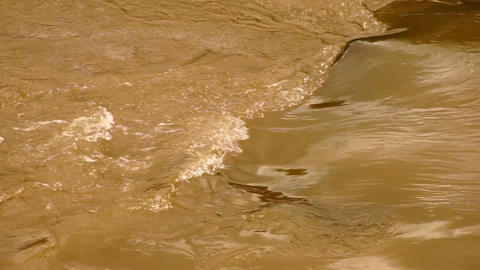 Water Weir with Flowing on the River in Northern Thailand Footage