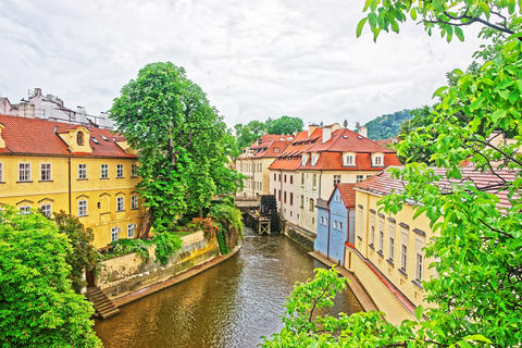 Kampa Island with Certovka River and Watermill in Old Praga フォト