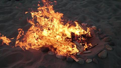 Beach bonfire Live Action
