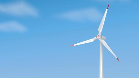 Spinning wind turbine Animation