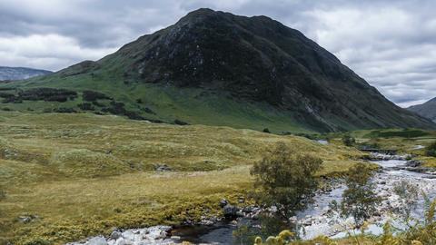 Time Lapse, The Beautiful Glen Etive, Scotland, Pan Footage