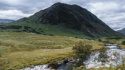 Time Lapse, The Beautiful Glen Etive, Scotland, Pan ビデオ