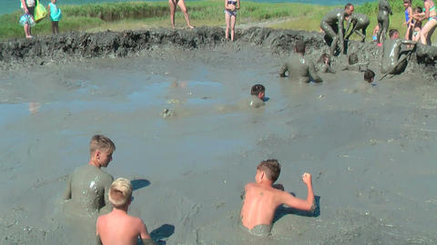 People take procedures with healing mud. Russiax Live Action