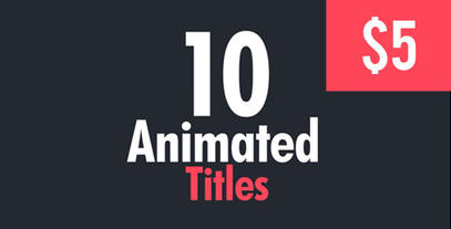 10 Animated Titles 30fps After Effects Templates