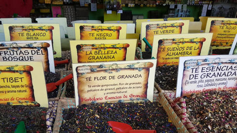 Spice Stand In Granada Footage