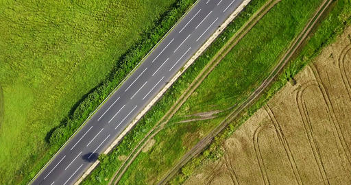 Aerial Drone View Of Agriculture Plantation And Road Filmmaterial