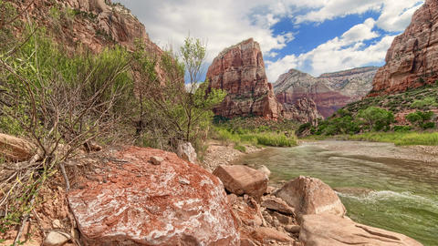 Zion Canyon HDR Timelapse/Hyperlapse - Valley View A Footage
