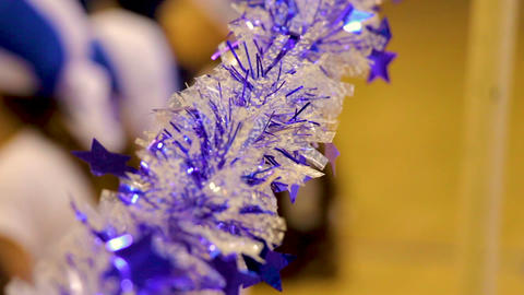Holiday blue and white party decoration Filmmaterial