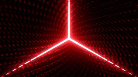 Three-beam Star VJ CG動画素材