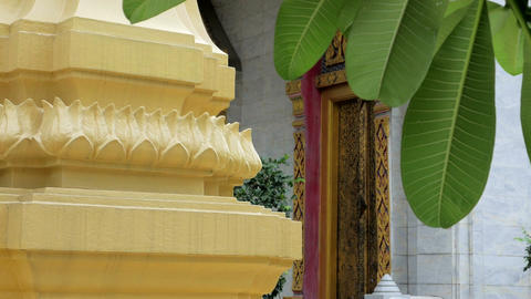 An ubosot in buddhist temple in thailand Archivo
