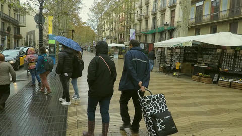 Pedestrians On Rambla Live Action