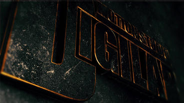 Elegant Metal Gold Logo After Effectsテンプレート