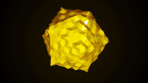 Low poly sphere rotating. Abstract 3d render smooth seamless loop animation Animation