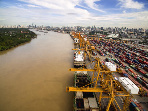 Aerial View of Dockyard フォト
