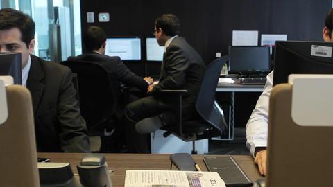 Working at desks Footage