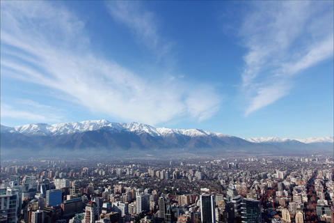 Mountains and city Footage