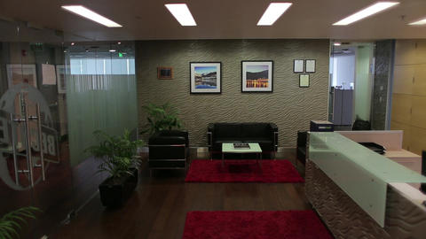Office reception Footage