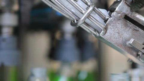 Production line bottle cap machine Footage