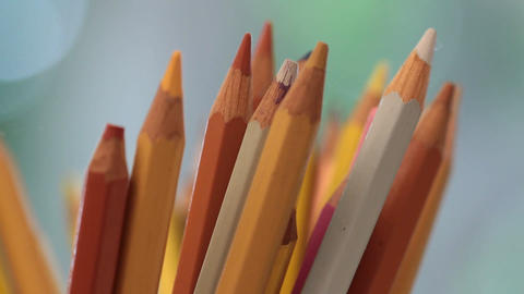 Colored pencils Footage