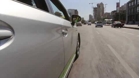 Car's side urban street Footage