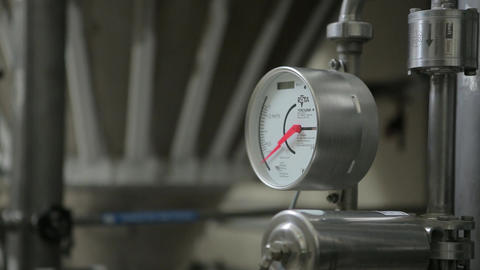 Pressure clock in brewery Live Action