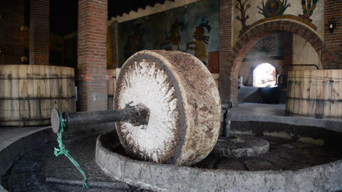 Mezcal Grinding Stone Footage