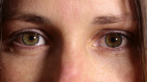 Green eyed woman Footage