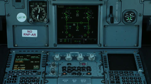 Airplane control panel Live Action
