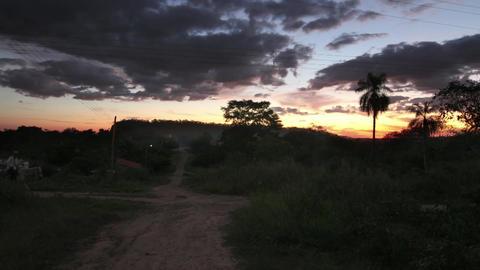 Rural area sundown Footage