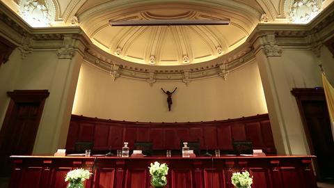 Judge's panel in auditorium Live Action