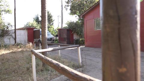Van parks at rural house Footage