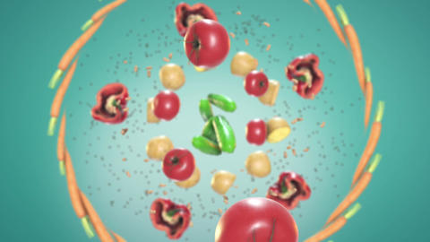 Food In Motion 1 Animation