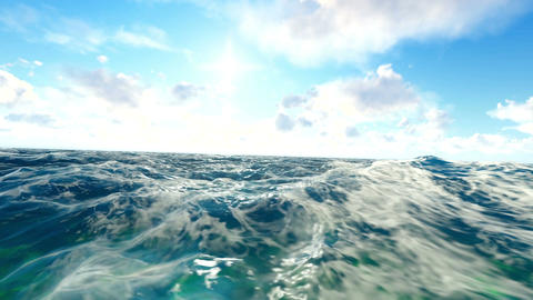 Hand Camera In The Ocean Animation