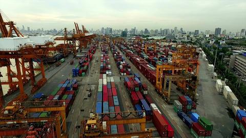 Aerial View of Dockyard Filmmaterial