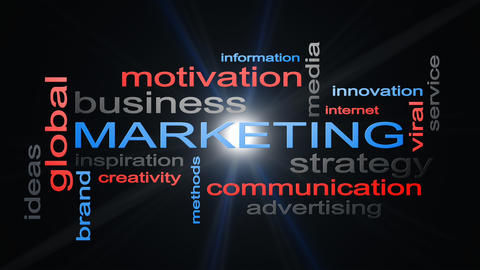Marketing Business Strategy Word Cloud Text Concept Fotografía