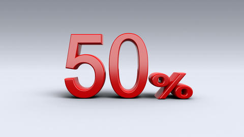 Sale, discount, percentages, special offer. Single subtitles percent - 10% to 90 Animation