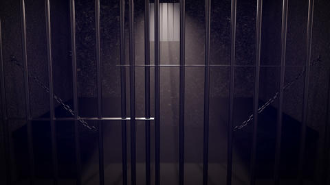 3D Secure prison. Sunlight through the window Animation