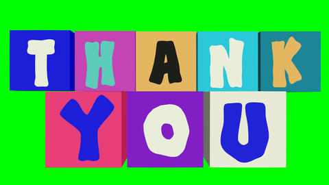 Thank You Banner Animated Inscription Outro