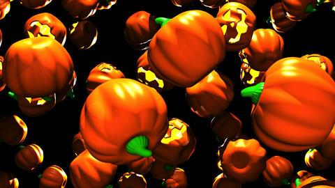 Jack-O-Lanterns On Black Background 1