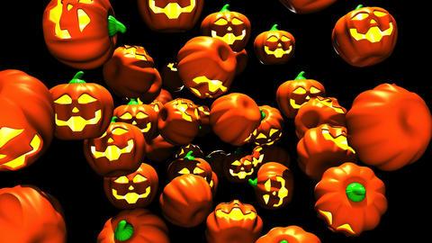 Jack-O-Lanterns On Black Background 2