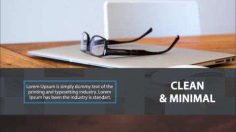 Clean Corporate Slideshow After Effects Template