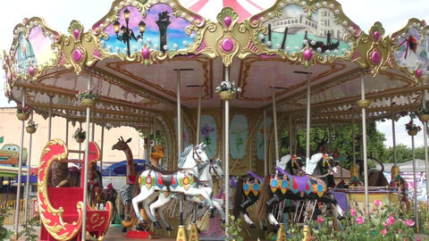 Carousel for children Footage