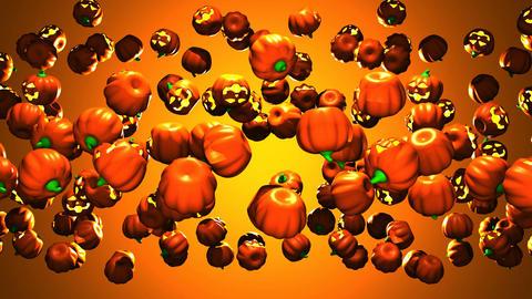 Jack-O-Lantern On Orange Background